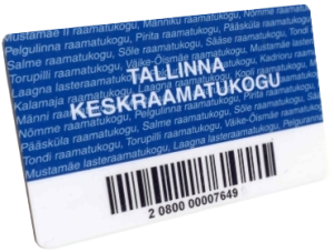 Tallinna Keskraamatukogu lugejakaart