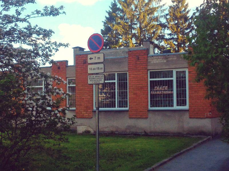 Sääse raamatukogu välisfassaad