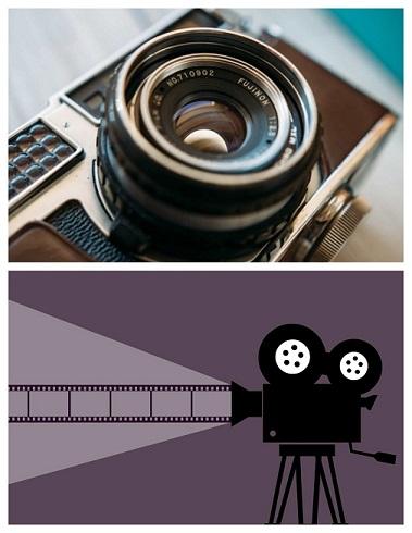 fotokaamera ja filmikaamera