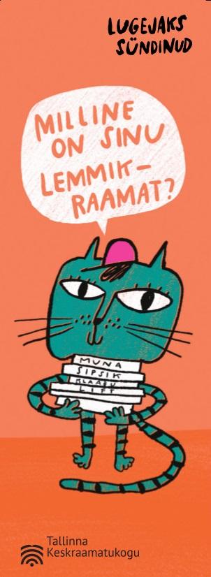 kass, kellel on süles kuhi raamatuid